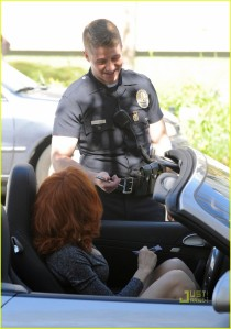 "I wish it was Benjamin McKenzie from ""Southland"" giving me a ticket."