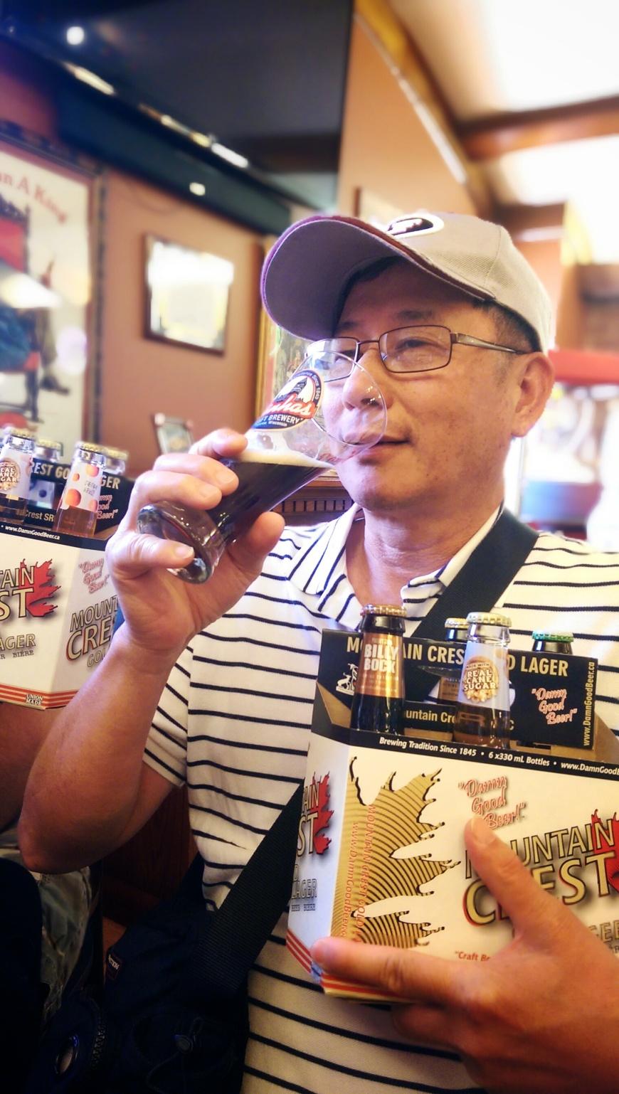 Dad at Minhas Brewery
