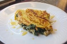 [Spinach + Artichoke + Brie] Crepe + Honey Drizzle