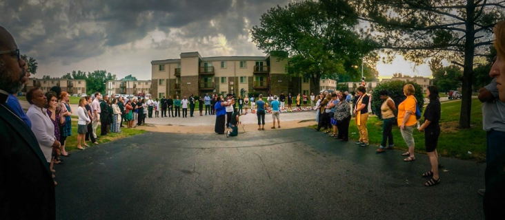 Sunrise Service for the 1 year anniversary of Mike Brown Jr.