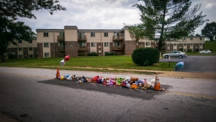 Michael Brown Jr's memorial site.