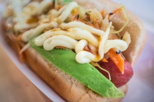 This is their ode to the Vancouver-style Japadog. Asian slaw, mayo, avocado. It was a creamy and tart offering over the savory dog. I loved it.